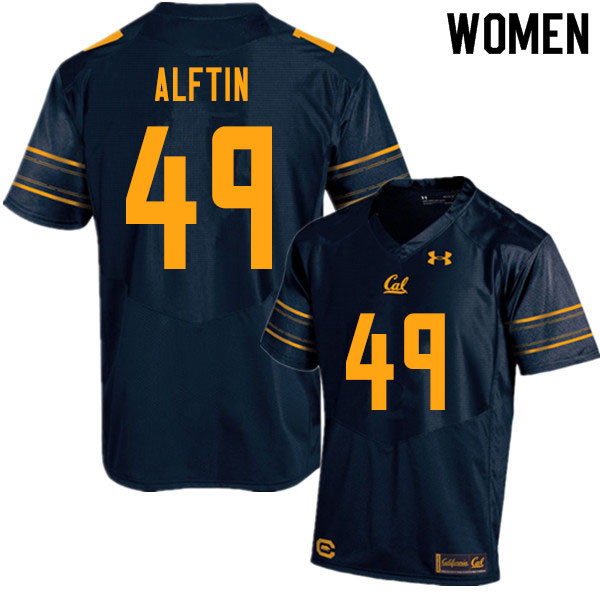 Women #49 Nick Alftin Cal Bears UA College Football Jerseys Sale-Navy